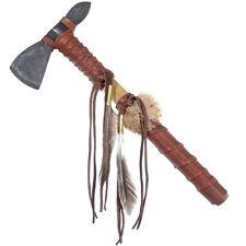 Indian Style Buckskin Tomahawk Handmade Artifact  Replica