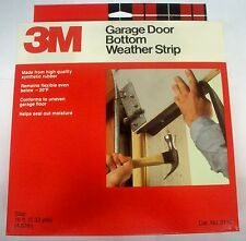 3M Garage Door Bottom Rubber Weatherstrip Seal 16 Ft. Long Roll