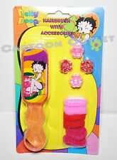 BETTY BOOP HAIRBRUSH WITH ACCESSORIES HAIR CLIPS GROOVY GIRLS HAIR BRUSH GIFT