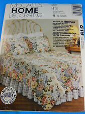 MCCALL'S 819 Shams, bed spreads covers, dust ruffles pattern Uncut FF booklet