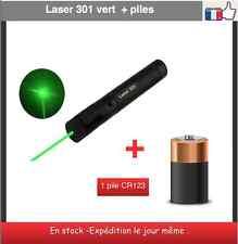 pointeur laser 301 vert ultra puissant 1 mw - 532 nm +1 pile idées cadeaux noel