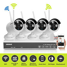 ANNKE 4CH Wireless Wifi 1280* 960P NVR Network Security Camera System 1.3MP HDMI