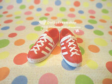 Doll shoes ~ Takara Jenny Red White Sport Shoes 1pair/OB27/Licca/Momoko