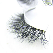 New Messy Luxurious 3D False Eyelashes Fake Eyelashes 100% Siberian Mink Fur