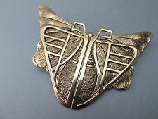 BUTTERFLY ART NOUVEAU BROOCH EGYPTIAN SILVER SCARAB PIN ART DECO JEWELRY