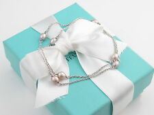 Tiffany & Co Silver Peretti Pink Pearls Pearl by the Yard Necklace Packaging