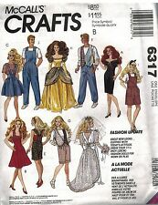 "6317 UNCUT Vintage McCalls SEWING Pattern  Fits 11.5"" Fashion Dolls Like Barbie"