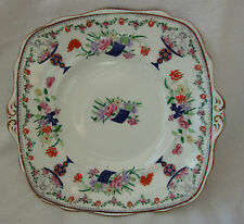 ANTIQUE LOVELY PARAGON CHINA CAKE PLATE S.C.&CO.REPRODUCTION OF OLD LOWESTOFT