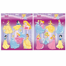Disney Princess Wall Stickers Girls Art Bedroom Decorations Adhesive Decor 7pcs
