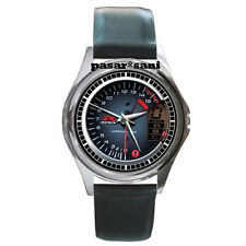 NEW SUZUKI GSX-R 1000 SPEEDOMETER Custom Round Metal Leather Men's Watch Watches