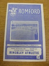 23/11/1963 Romford v Hinkley Athletic  . Thanks for viewing this item, we try an
