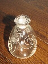 "R LALIQUE ""Capricornes"" Glass Crystal Rene Perfume Bottle w/Beetles Signed"