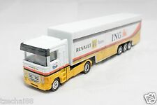 Newray 1:87 DIECAST Renault F1 ING Container Truck White Color Model COLLECTION