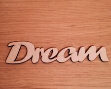 Dream Wooden Script Words Mdf Decorative Letters Wall Door Plaque Sign