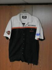Official Men's Harley-Davidson 100% cotton staff shirt size large Buell