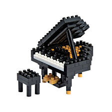 NEW NANOBLOCK Grand Piano Black - Nano Block Micro-Sized Building Blocks NBC-017