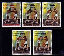 ZAIRE - 1975 - BOXING - ALI / FOREMAN FIGHT - OVPT - MINT - MNH - SET!