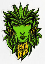 Santa Cruz Weed Goddess Skate Sticker skunk cannabis marijuana 15cm high approx