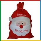 PERSONALISED XMAS SACK: ADD YOUR NAME Christmas Embroidered DELUXE SANTA