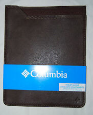 Columbia Dark Brown Faux Leather iPad Tablet Sleeve #31CO3202