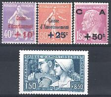 FRANCE ANNEE COMPLETE 1928 YVERT 249 / 252 , 4 TIMBRES NEUFS xx LUXE   M898