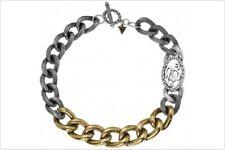 GUESS ufn70710 massiccio catena donna collana in acciaio inox argento oro 43 CM NUOVO