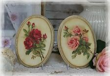 "A set of 2 ""Vintage Roses"" ~ Shabby Chic ~ Country Cottage style~Wall Decor Sign"