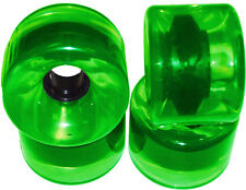 70mm X 53mm LONGBOARD Wheels GREEN + ABEC 9 BEARINGS