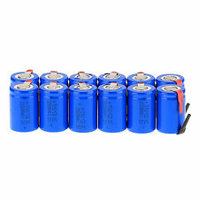 Hot Blue12× NiCd 4/5 SubC Sub C 1.2V 2200mAh Ni-Cd Rechargeable Battery with Tab