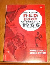 The Little Red Book of Baseball 1966  Baseball's Book of Official Records