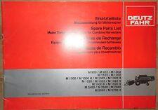 Deutz Fahr Maisausrüstung für Mähdrescher M 900 - M 2780 H Ersatzteilliste