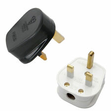UK 13A BLACK MAINS PLUG 13 AMP 3 PIN APPLIANCE FUSE POWER WHITE SOCKET ADAPTOR