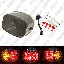 Smoke Brake Turn Signal LED Tail Light For Harley Davidson Sportster 1999-2007