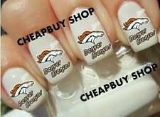 New DENVER BRONCOS NFL FOOTBALL》Tattoo Nail Art Decals《NON-TOXIC