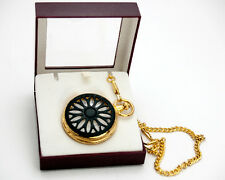 MAJESTRON POCKETWATCH:COVER CASE,CLASSIC DIAL,QUARTZ,INCLUDING CHAIN GOLD FINISH