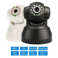 Wireless IP WebCam DVR Cam WiFi PTZ Dual Audio Network LED Night Vision WPA