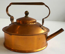 COPPER COLLECTION-COFFEE POTS-MARKED JAPAN-SILENT BUTLER-TEA KETTLE & TIN BASKET