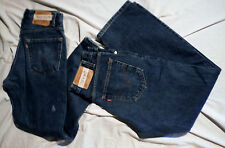 LOT OF TWO LEVIS 505 REGULAR FIT DARK BLUE DENIM 32 X 30 RED TAB WORK JEANS