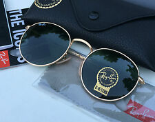 Authentic RAYBAN ROUND METAL SUNGLASSES Green Classic/Gold Frame RB3447 001 50mm
