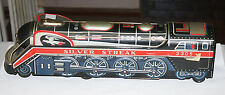 Vintage Tin Silver Streak Train Engine Made in Japan