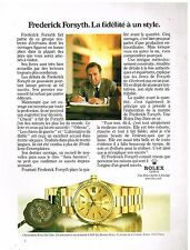 Publicité Advertising 1983 La Montre Chronomètre Rolex day-Date Frederic Forsyth