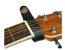 LEATHER STRAP HOOK ACOUSTIC OR ELECTRIC GUITAR HEADSTOCK STRAP TIE HOOK BUTTON