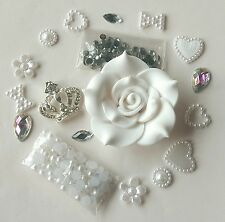 W100 Beauty Rose crown DIY Cell Phone Iphone4 4/5/6S  Crystal Case-Deco Den Kit