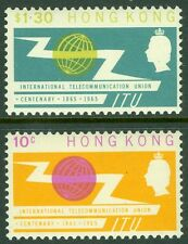 HONG KONG : 1965. Scott #221-22 Very Fine, Mint Original Gum VLH. Catalog $32.00