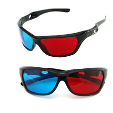 Cheap Red Blue 3D Glasses Black Frame For Dimensional Anaglyph TV Movie DVD Game