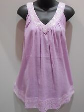 Top Fits XL 1X 2X 3X Plus Tunic Purple with Silver Sequins V Neck Tank NWT DC450