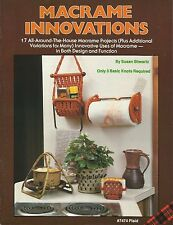 Macrame Innovations Susan Shwartz Pattern Instruction Book NEW 1981 Plaid #7474