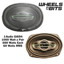 "NEW J-GT694 2x500 Watt 1000 Watts A set of 6""x9"" Inch Car Rear Shelf Speakers"