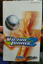 BOOKLET/MANUAL ONLY FOR VIRTUA TENNIS 2 PS2 (NO GAME)-  FREE POST