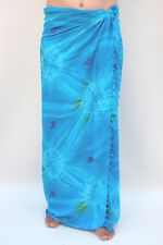NEW TIE DYE SARONG SKIRT PAREO WRAP FULL LENGTH COVER UP ONE SIZE BNIP / sa375P